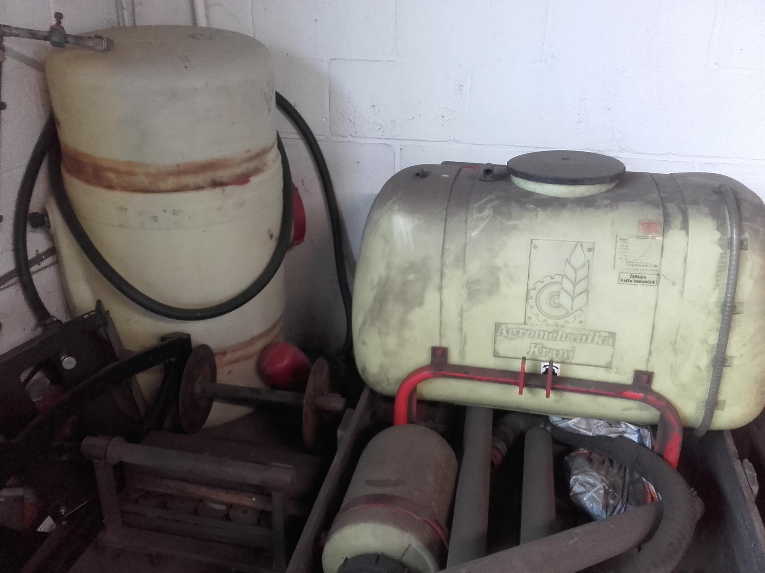 Vloeistoftanks gebruikt
